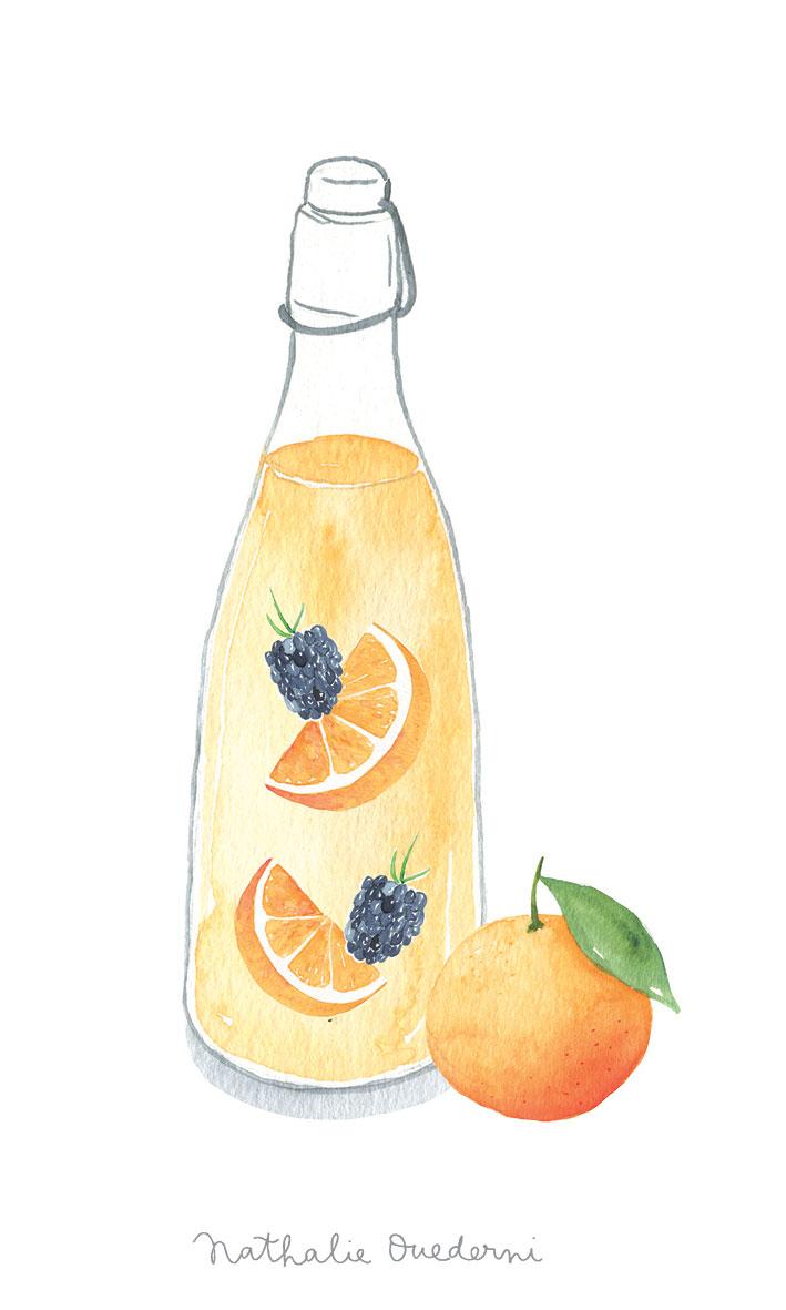 Orange Lemonade detox water