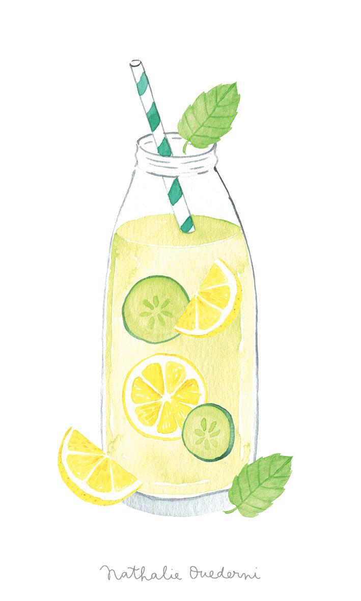 Lemon-cucumber lemonade