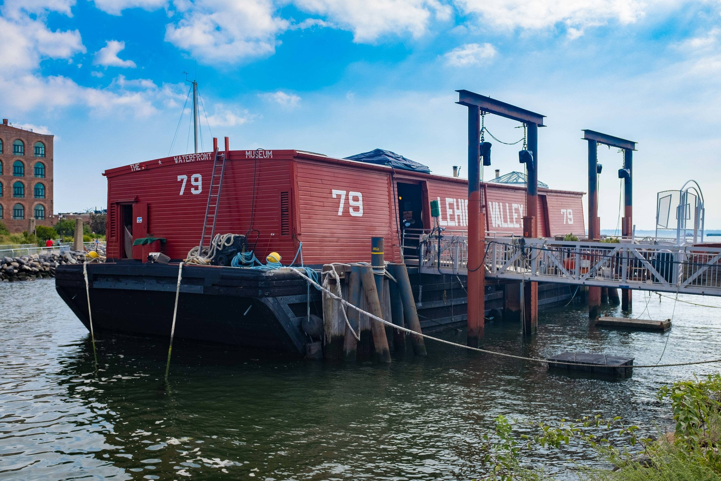 The Waterfront Museum & Barge in Red Hook, Brooklyn.