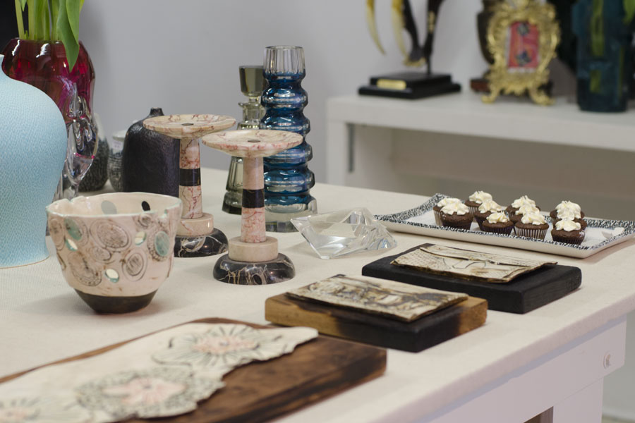 Ceramics by Jaleh Saneinejad and muffins by Capture the Sweetness and Alessandra Bravo