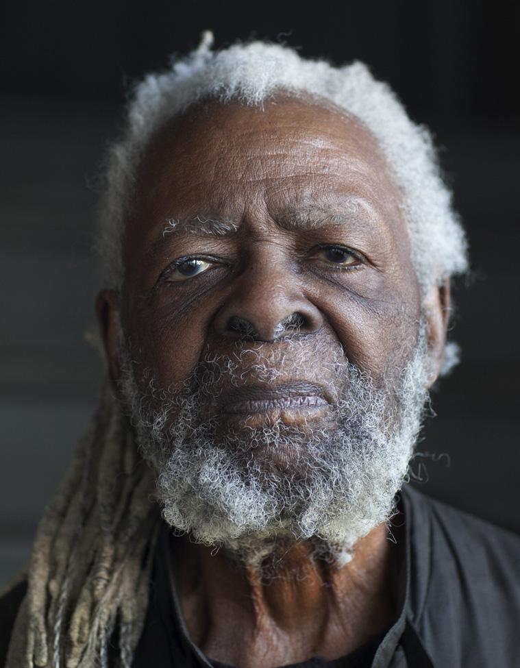 Cliff Joseph, activist artist, Southeast Side, 2015. Terry Evans