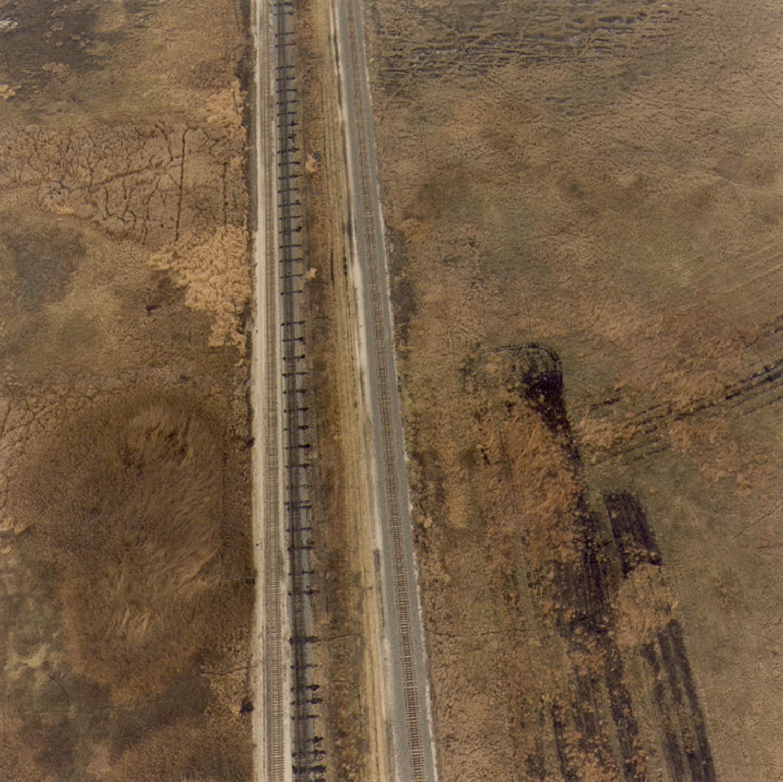 Railroad tracks next to Drummond Prairie, November 25, 1996