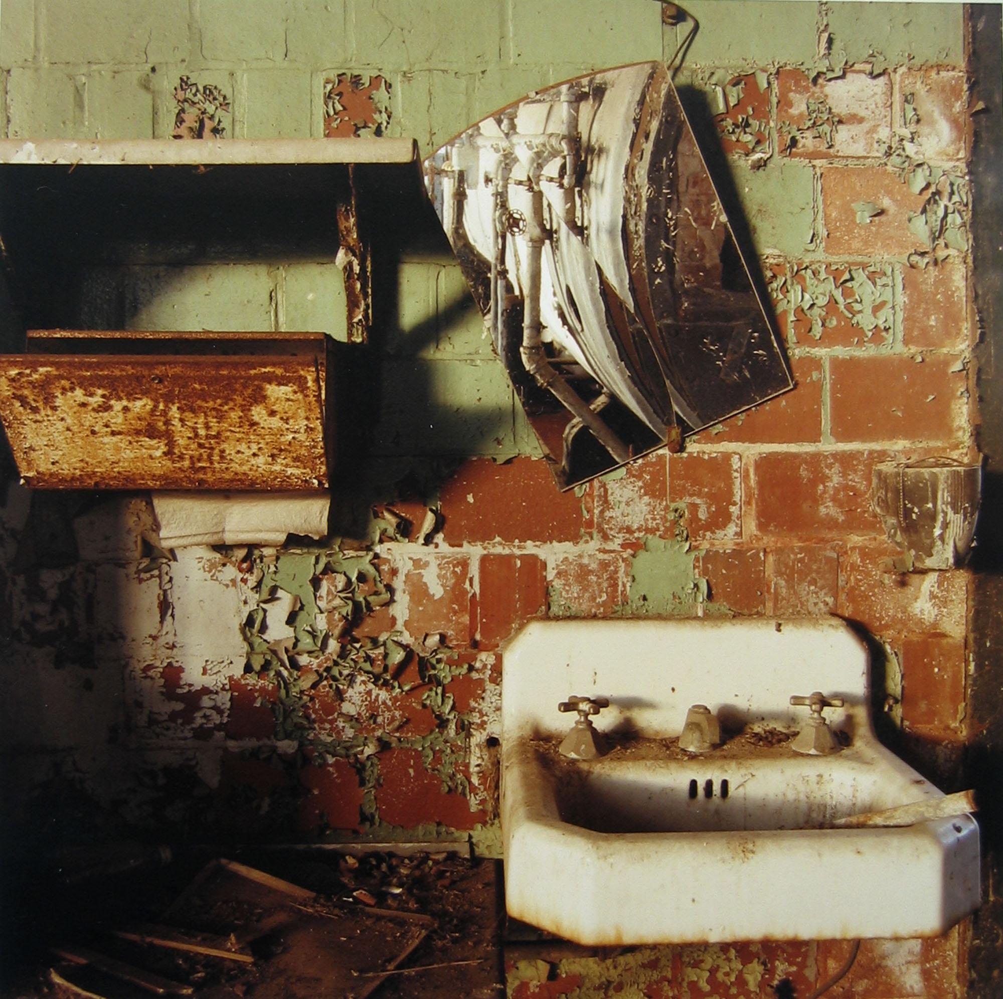 Furnace room sink, October 1996