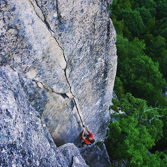 Summer afternoons at the South Wall. Absolute perfection. #rockclimbsofacadia