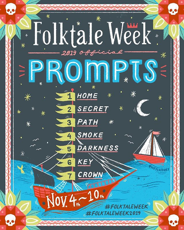 HEY! GET READYYY! 🤗 The official #folktaleweek2019 prompts are here! The #folktaleweek hosts and I are very excited to see how they inspire you. Folktale Week is open to everyone, regardless of skill or art form, and you are encouraged to interpret the prompts in ANY way you choose! ✨ . How to participate: Follow the prompts, one per day, for each day of FolktaleWeek, November 4th through 10th. Use the hashtags #folktaleweek and #folktaleweek2019 to show your work and interact with other artists. During Folktale Week, the challenge hosts will be pulling work from the hashtag to promote in our stories! . Folktale Week was created to share traditionally verbal stories through visual media. We want to see how you tell a story through the media that you love. 💕 . Folktale Week 2019 was developed by a group of talented artists from all around the world. Be sure to check out their profiles for inspiration: @jennifermpotter, @devonholzwarth, @andrea_stegmaier, @carolinebonnemuller, @sofiamoore_studio, @heycasshey, @rachaelschaferdesigns, @sandiesonke, @debrastyer, @laure_illustrations @louve.draws, @matejalukezic @shelly_laslo @tanja_stephani @juliachristiansde @thebrotherskent @nicallanart @kathryndurst, @chelslarss and @bonbonoiseau . . . . . #illo #illustration #illustrator #illustrazione #illustracion #illustrationartists #artchallenge #illustrationchallenge #artprompts #prompts #characterdesign #visualstorytelling #folktale #folktales #fairytale #fairytales #folklore #childrensbookillustration #picturebookillustration #kidlitart #illustrate #illust #dessin #goillo #illustratorsofinstagram