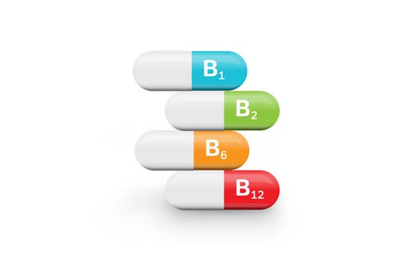 Vitamins B1,B2,B6 & B12 - B vitamins help speed up the body's metabolism and increase energy without stimulants.
