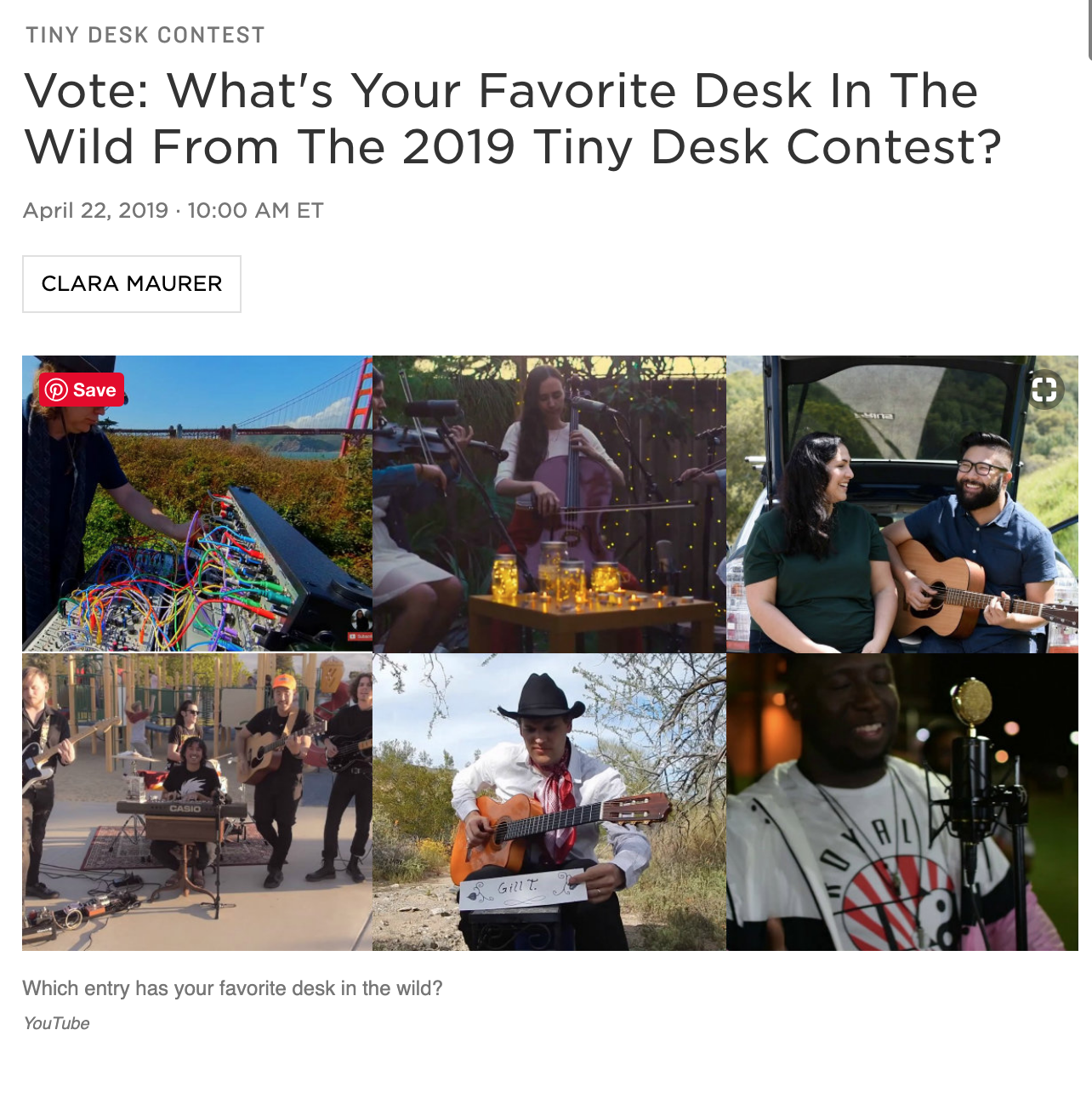 Our Tiny Desk Contest Entry Was Featured on NPR This Week