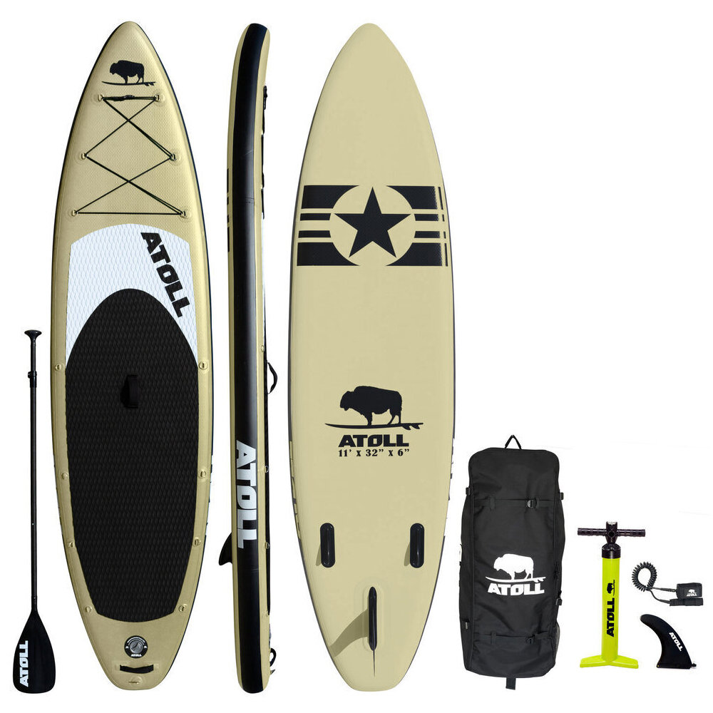 2020 DESERT SAND iSUP PACKAGE — Atoll Boards Inflatable Stand Up Paddle Board