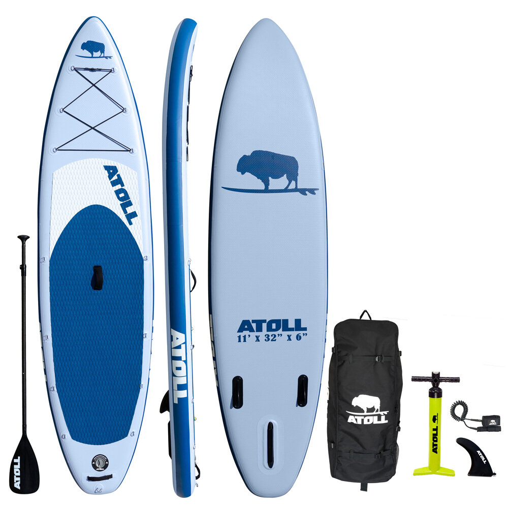 2020 LIGHT BLUE iSUP PACKAGE — Atoll Boards Inflatable Stand Up Paddle Board
