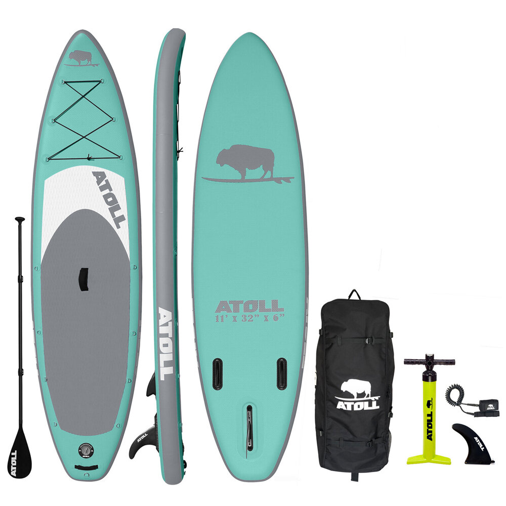 2020 AQUAMARINE iSUP PACKAGE — Atoll Boards Inflatable Stand Up Paddle Board