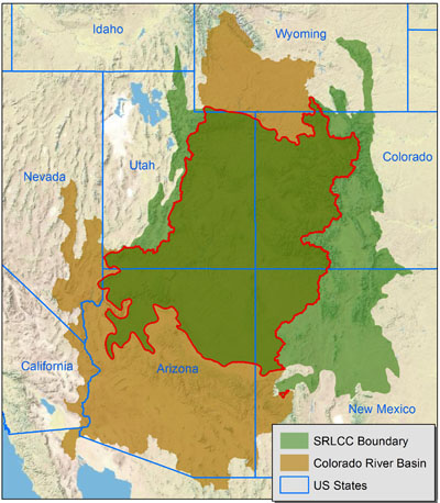 Colorado River Drainage within the Southern Rockies LCC boundary