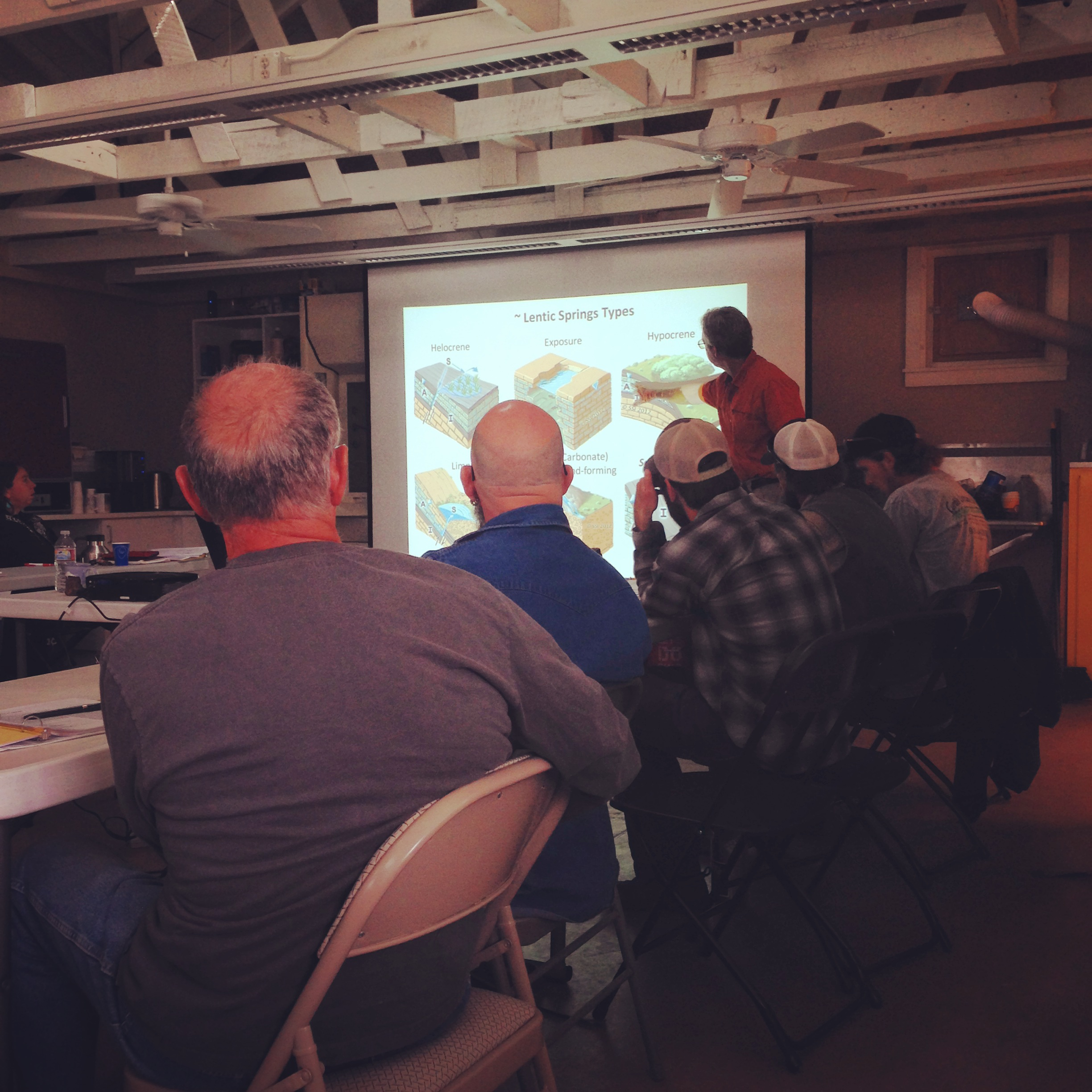 Dr. Larry Stevens presenting SSI Inventory and Assessment protocols to workshop participants on May 20th, 2015. Photo by Molly Joyce.