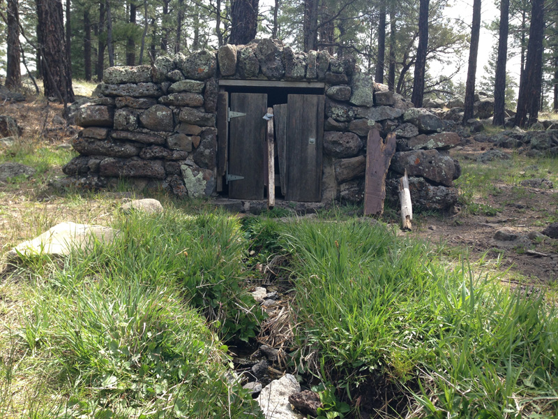 Historic spring box constructed over the source in the 1930s.