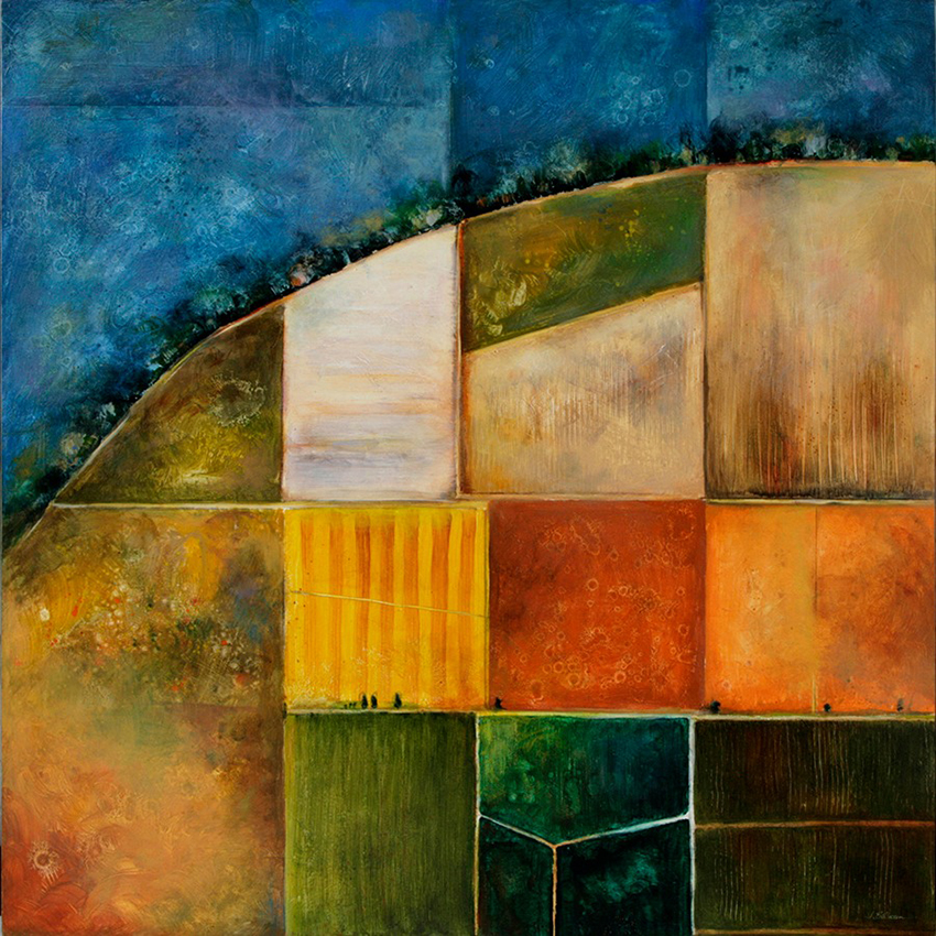 "Fields of Light #8,  oil on panel, 48"" x 48"""