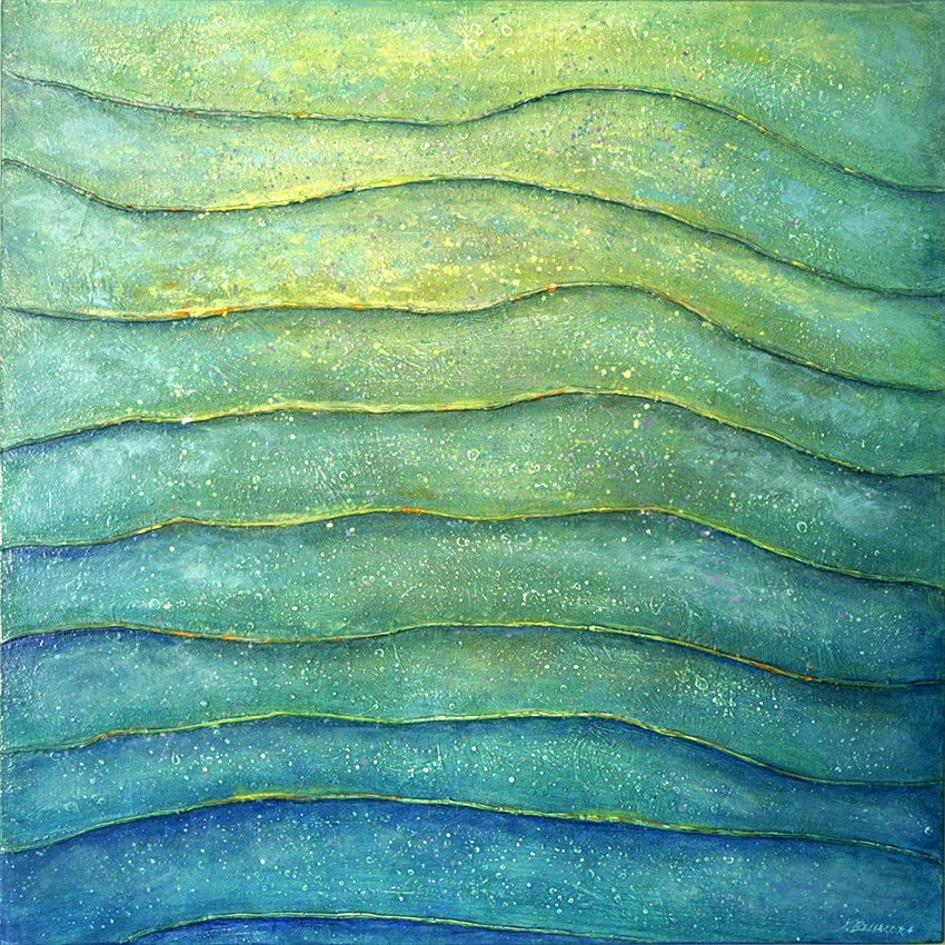 "Fields of Light #34,  oil on panel, 30"" x 30"""