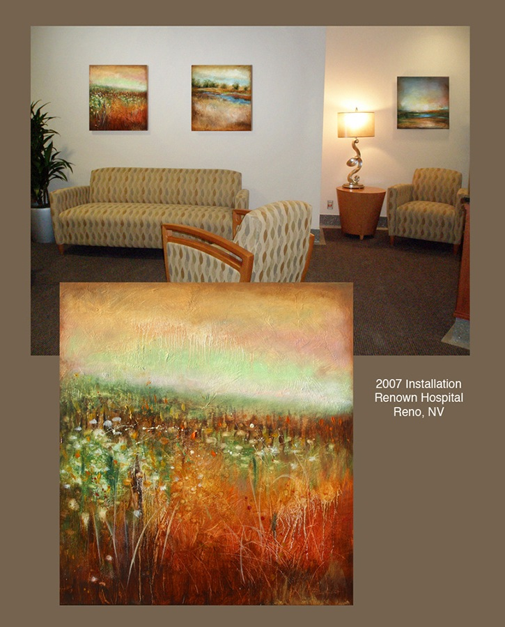 2007 Painting Installation (20+ paintings), Renown Hospital, Reno, NV