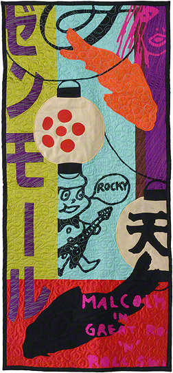 "Tokyo/Kyoto, 21"" x 48"", Silk and Cotton Quilt, ©2008"