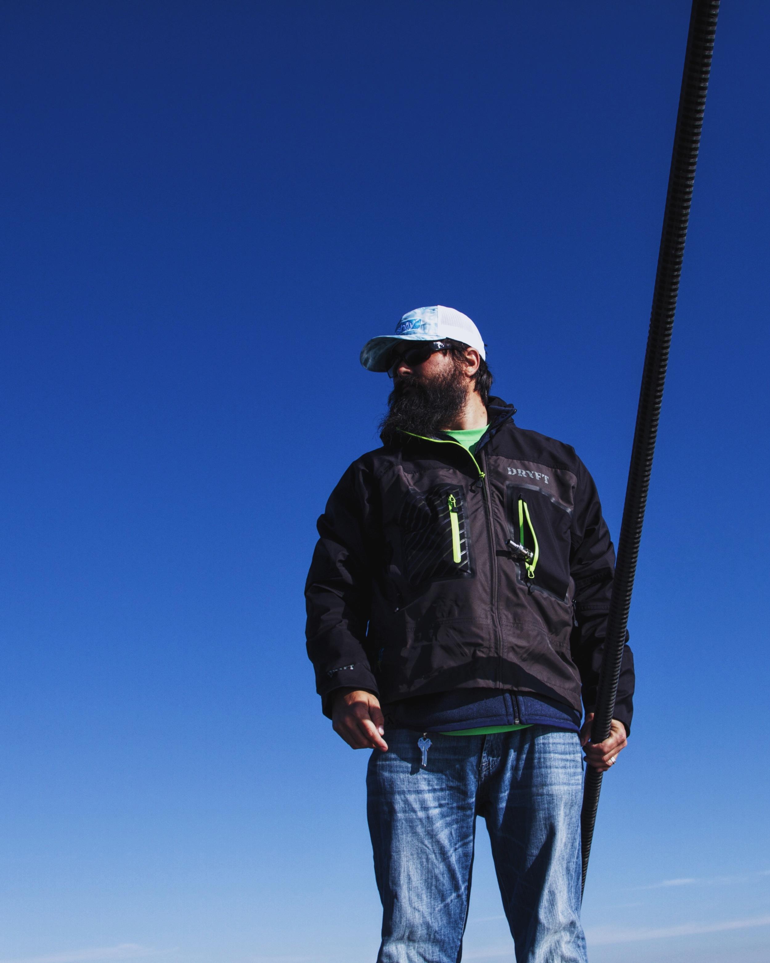 After you catch, you pole.  photo: Robert Jones
