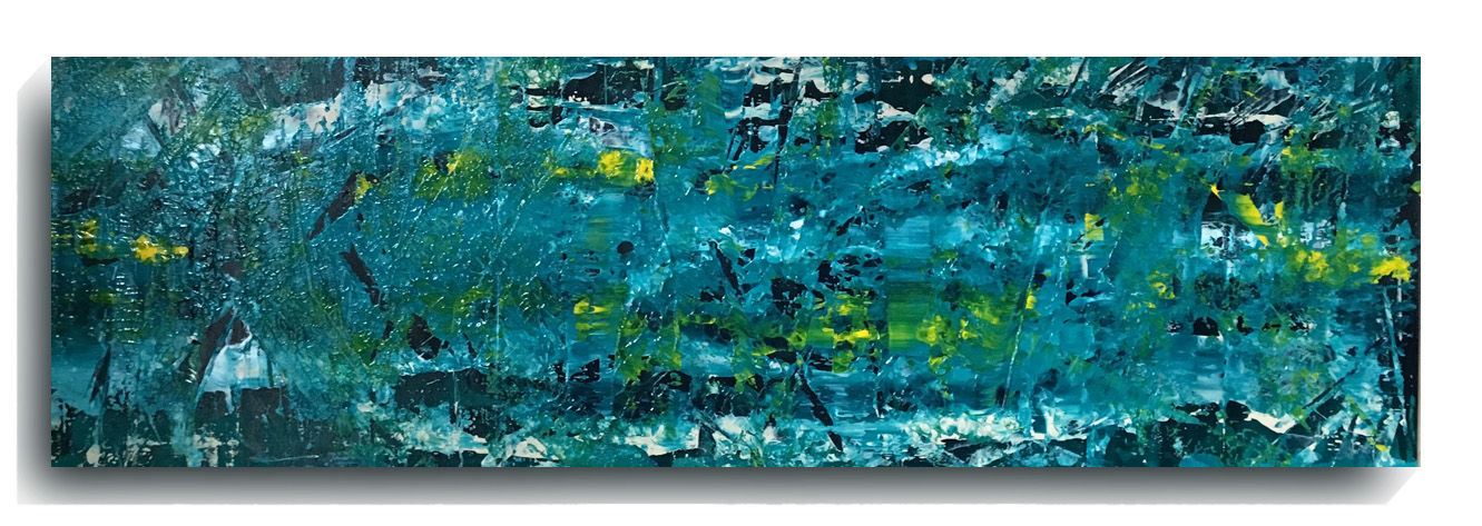 Shards     Panoramic     10,    2016, Acrylic on wood panel, 12 x 36 inches, $495        Contact Mark Sivertsen