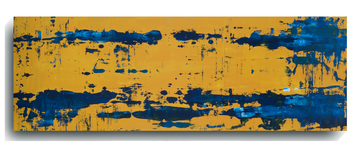 Rorschach     Panoramic     27,    2016, Acrylic on wood panel, 12 x 36 inches, $495        Contact Mark Sivertsen