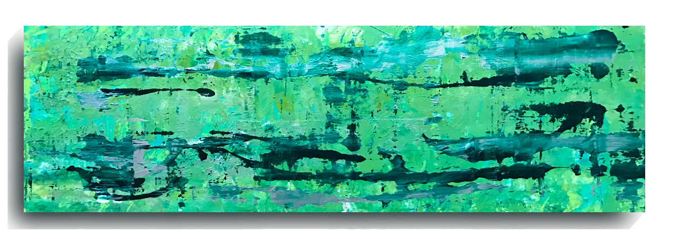 Rorschach     Panoramic     34,    2016, Acrylic on wood panel, 12 x 36 inches, $495        Contact Mark Sivertsen