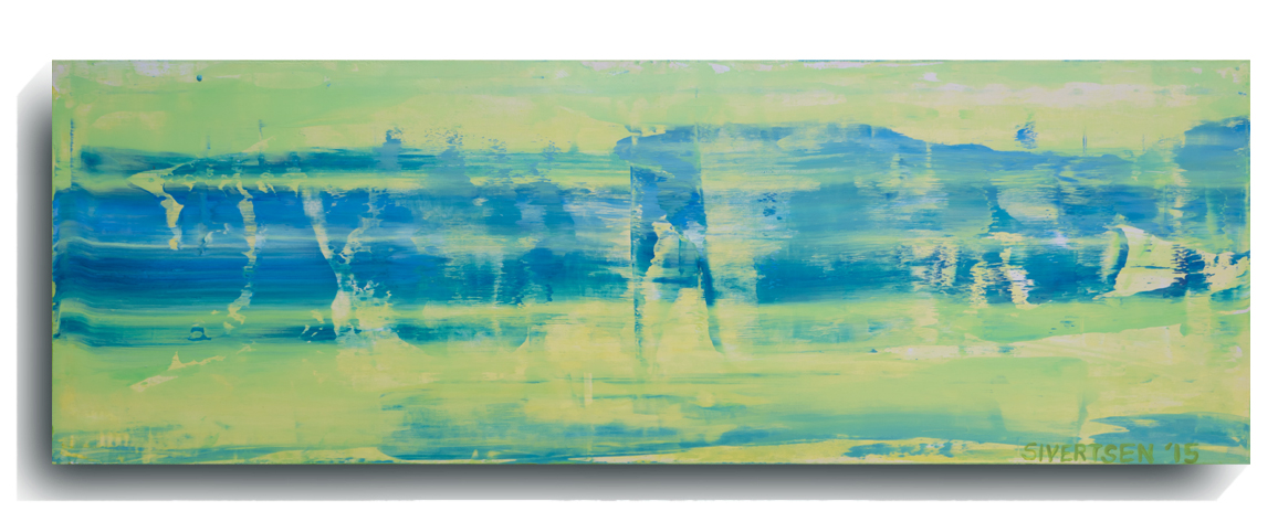Rorschach      Panoramic      03  , 2015, Acrylic on wood panel, 12 x 36 inches, $495        Contact Mark Sivertsen