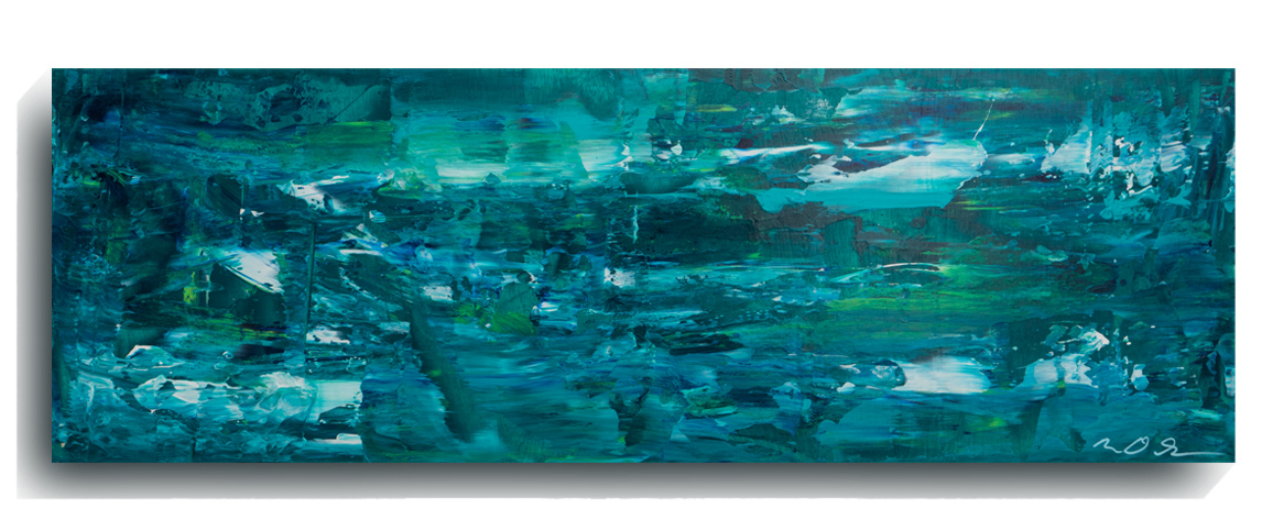 Shards     Panoramic     03,    2015, Acrylic on wood panel, 12 x 36 inches, SOLD