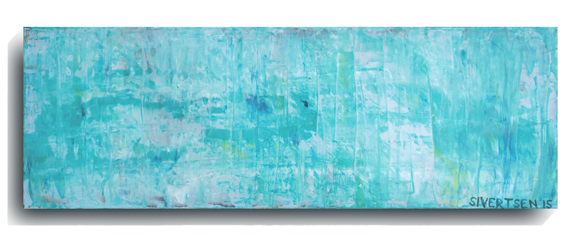 Rorschach      Panoramic      01  , 2015, Acrylic on canvas panel, 12 x 36 inches, $495        Contact Mark Sivertsen