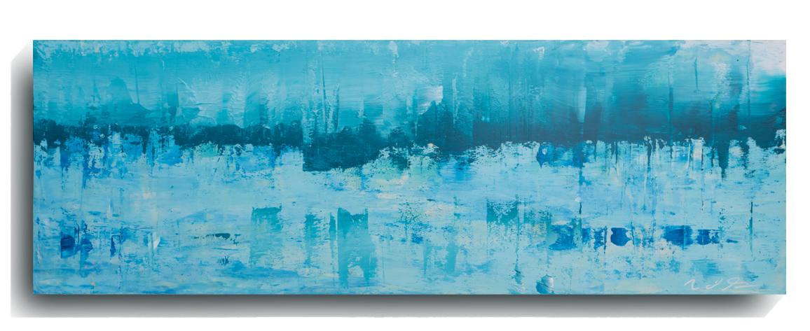 Horizon     Panoramic     01,   2015, Acrylic on wood panel, 12 x 36 inches, $495     Contact Mark Sivertsen