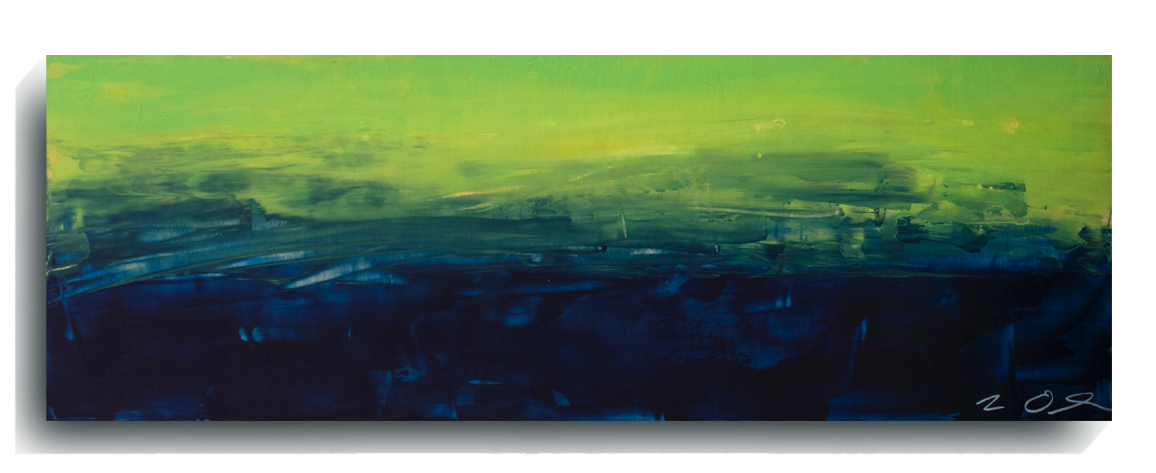 Horizon     Panoramic 03   , 2015, Acrylic on wood panel, 12 x 36 inches, SOLD - AVAILABLE FOR PRINTS      Contact Mark Sivertsen