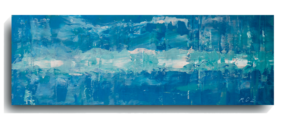 Rorschach     Panoramic     16,    2016, Acrylic on wood panel, 12 x 36 inches, $495        Contact Mark Sivertsen