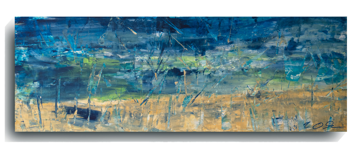 Shards     Panoramic     06,    2015, Acrylic on wood panel, 12 x 36 inches, SOLD - AVAILABLE FOR PRINTS        Contact Mark Sivertsen