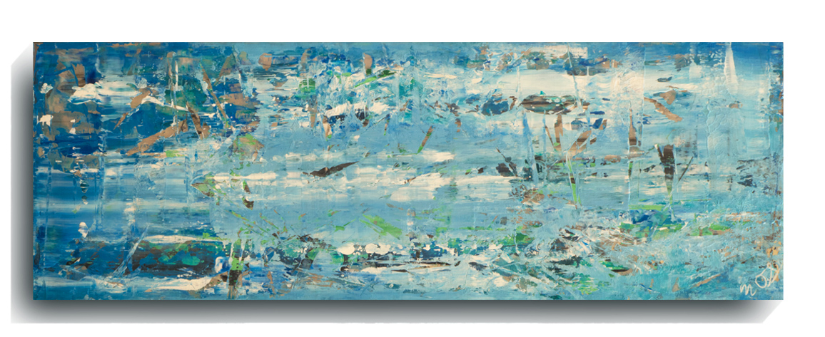 Shards     Panoramic     11,    2016, Acrylic on wood panel, 12 x 36 inches, SOLD -   AVAILABLE FOR PRINTS        Contact Mark Sivertsen