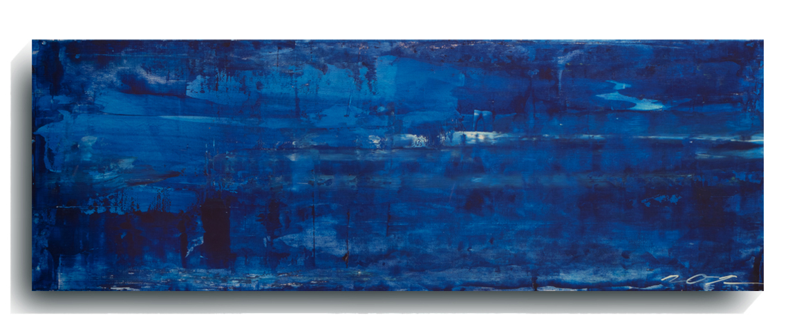 Shards     Panoramic     01   , 2015, Acrylic on wood panel, 12 x 36 inches, SOLD