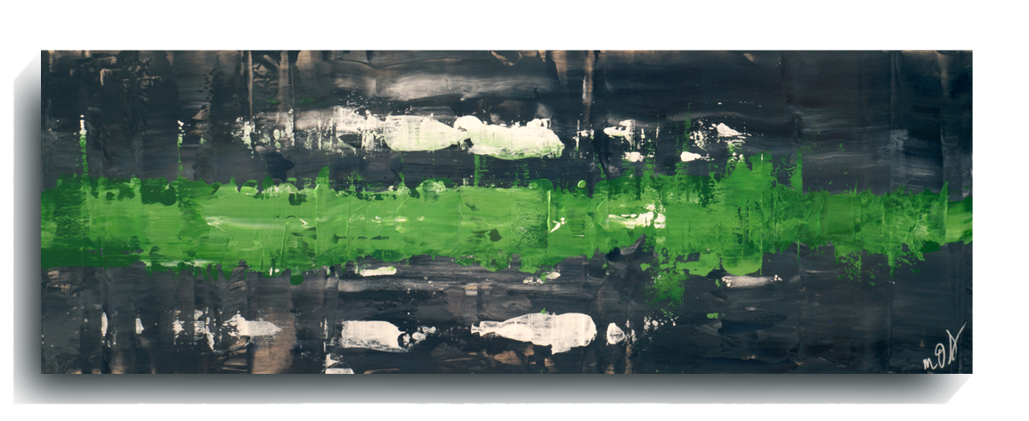 Rorschach     Panoramic     25 - Ireland,    2016, Acrylic on wood panel, 12 x 36 inches, $495        Contact Mark Sivertsen