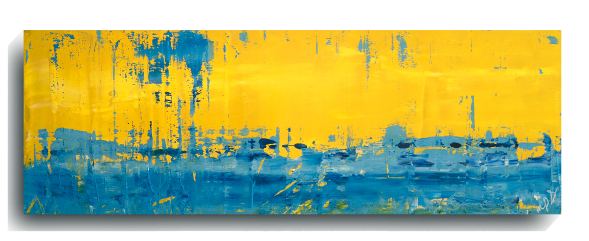 Rorshach Panoramic 26   2016, Acrylic on wood panel, 12 x 36 inches, $495        Contact Mark Sivertsen