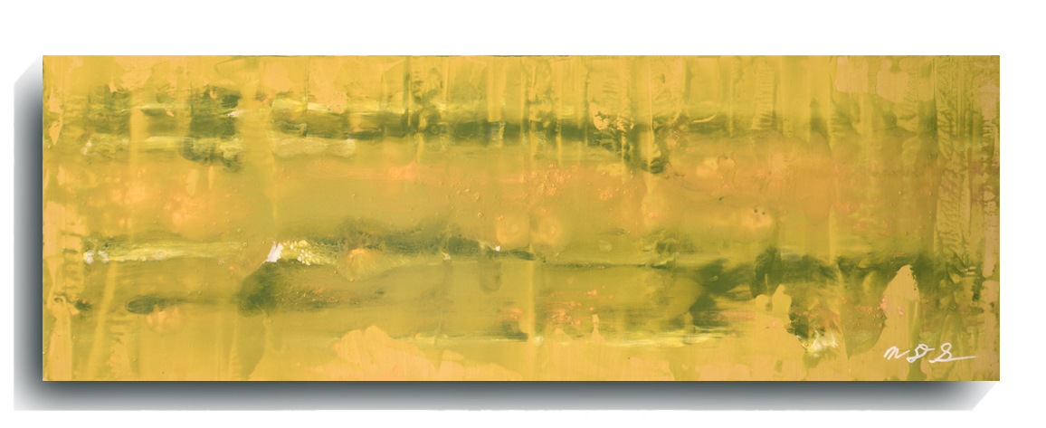 Rorschach     Panoramic     08,    2016, Acrylic on wood panel, 12 x 36 inches, $495        Contact Mark Sivertsen