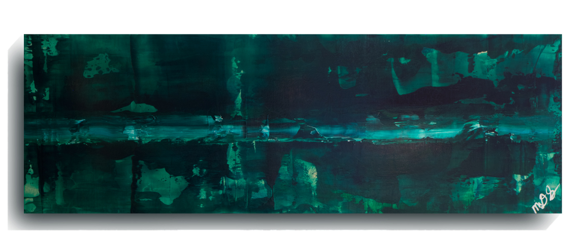 Translucent     Panoramic     01,    2016, Acrylic on wood panel, 12 x 36 inches, SOLD