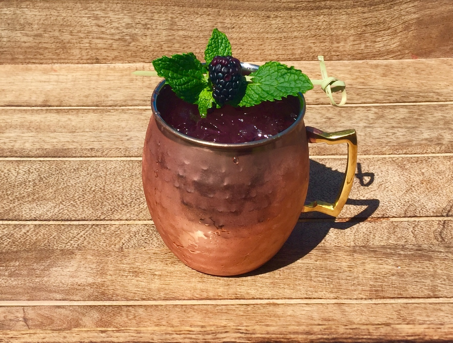 Blackberry Mint Mule