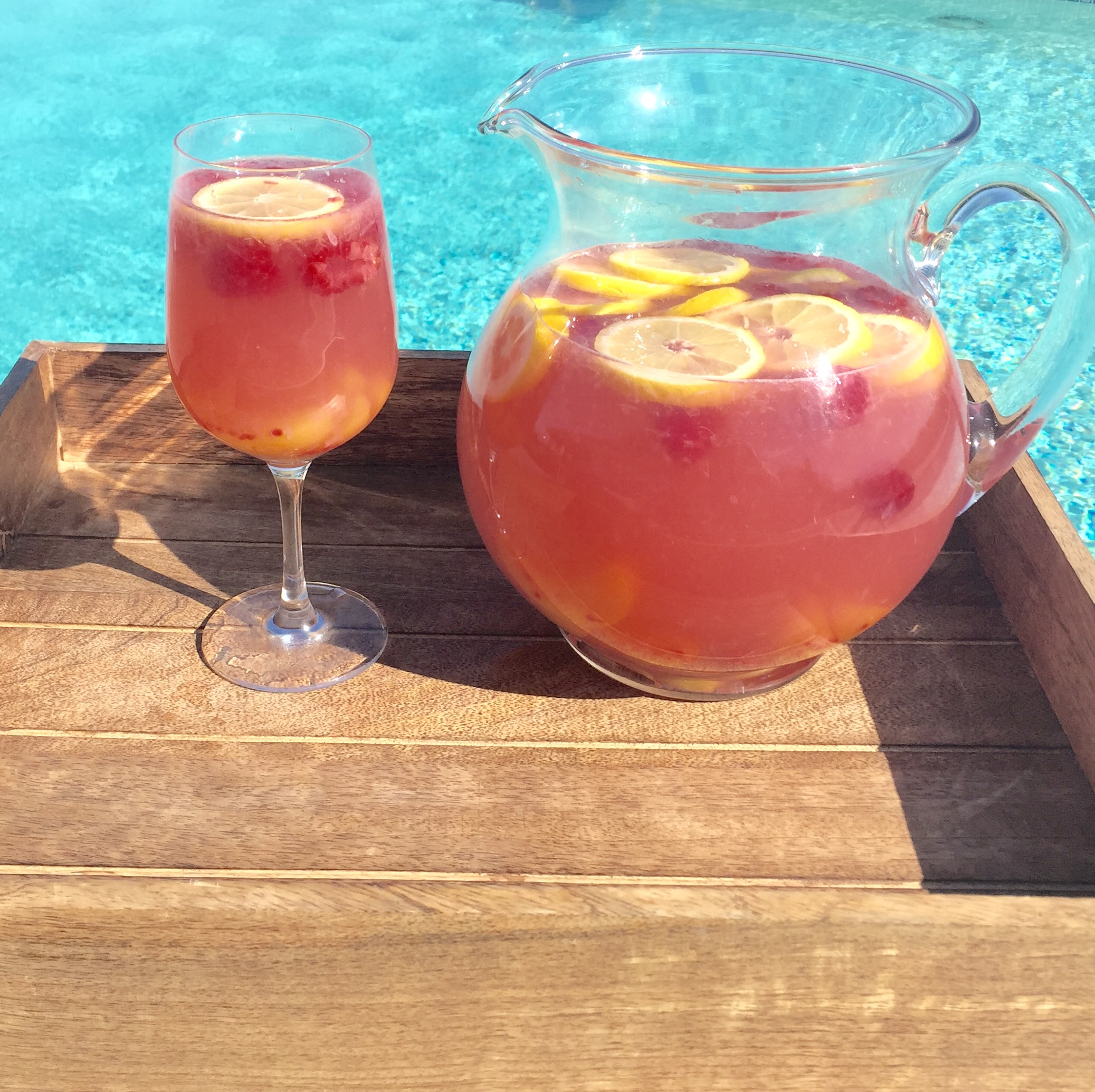 Peaches and Rosé Sangria