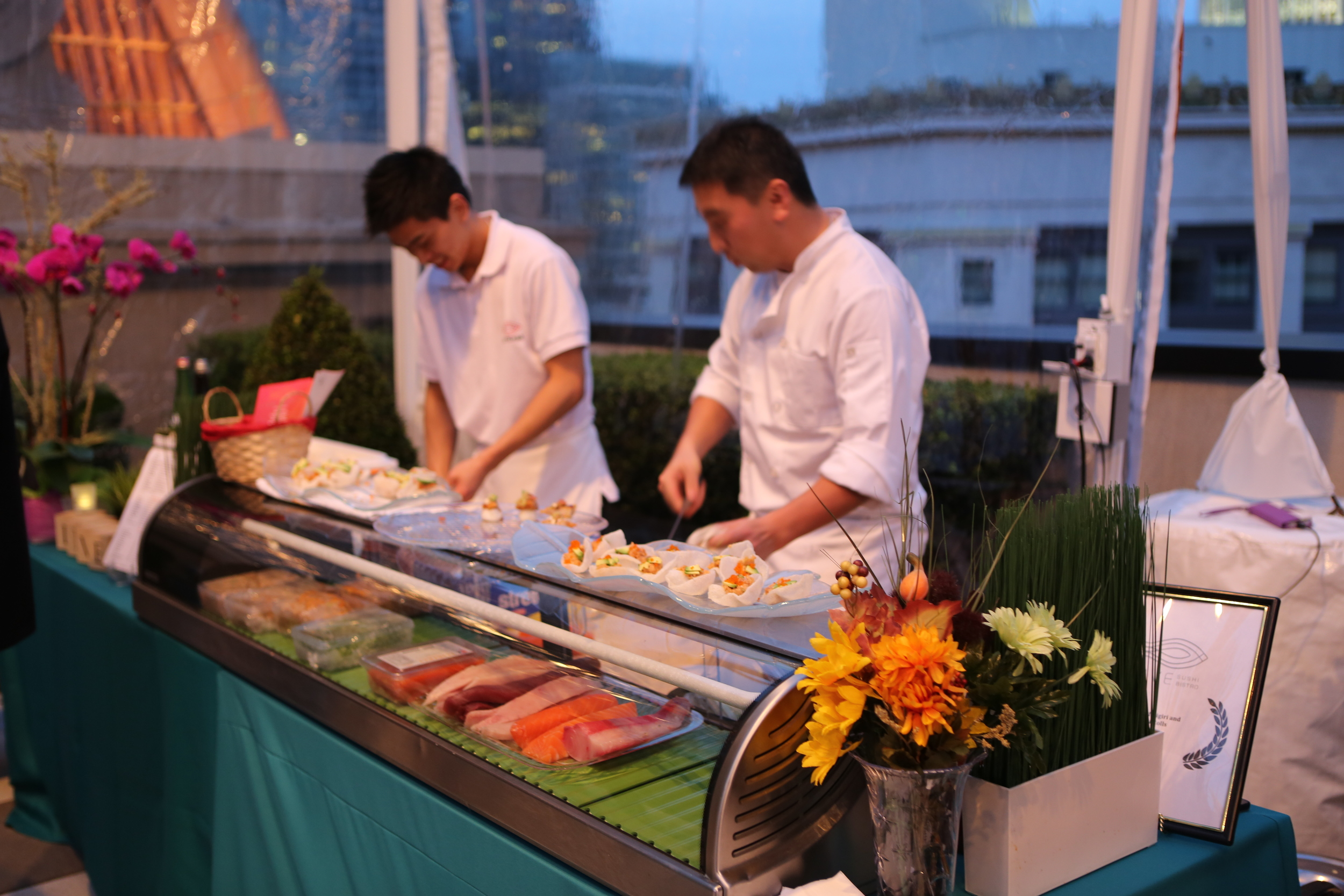 Live Sushi Chefs at a Mobile Sushi Bar