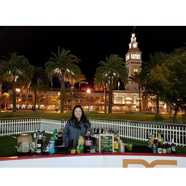 On the Rocks Package @ the Embarcadero Skating Rink in SF! So cool to work right by the rink . . . . . . . . . . #sfevents #bartenderforhire #tlc #theliquidcaterers #pme #pollymartini #barsetup #icerink #alcoholNice
