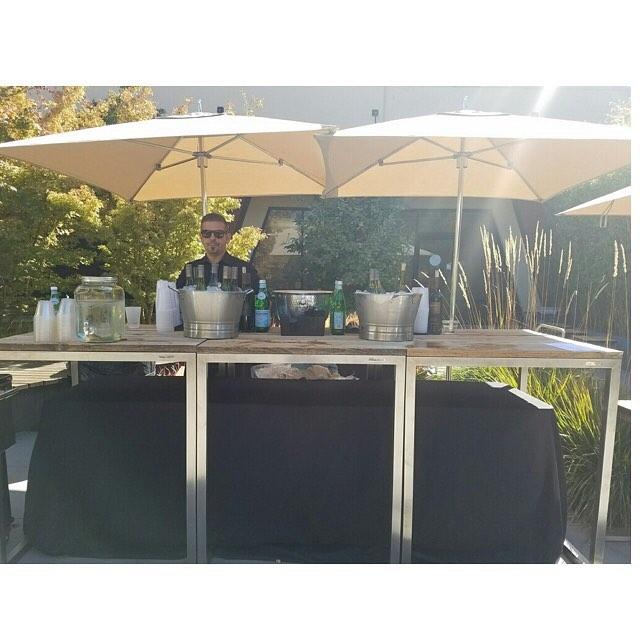 Bar set up, special request: 21st Amendment kegs 🍺🍺🍺 . . . . . . . #apple #barsetup #tlc #theliquidcaterers #pme #bartenderforhire #21stamendment #beerkeg