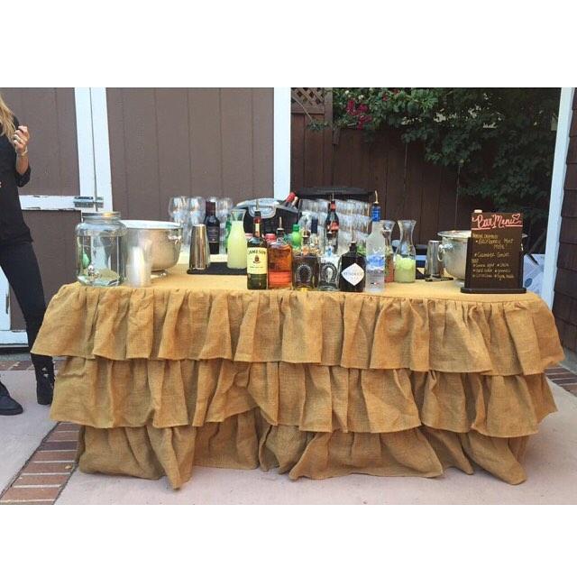 Bar set up for a wedding reception 💎✨👰🍾 . . . . . . . #blackberrymintmule #moscowmule #margaritas #hendricksgin #greygoose #bartenderforhire #pme #tlc #theliquidcaterers