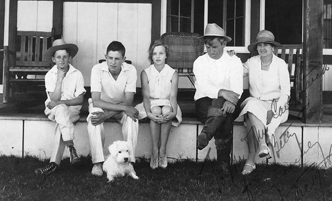 "Will Rodgers with his family and their dog. Will once said, ""If there are no dogs in heaven, then when I die I want to go where they went."" Fortunately for Mr. Rogers, we have it on good authority that dogs in fact do go to heaven, where they are reunited with the neighbor's dog and Mrs. Gumwhittie's leg."