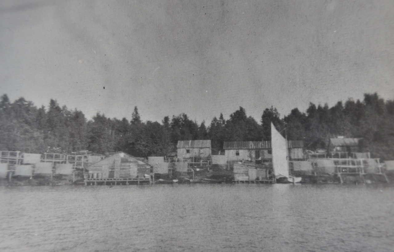 Shanties on Isle Royal before becoming a National Park. The second shanty on the left was rumored to be the summer home of notoriously reclusive Dales Snoots, at the time the only man to have an IQ over 195. He went on to invent the steam powered toothbrush.