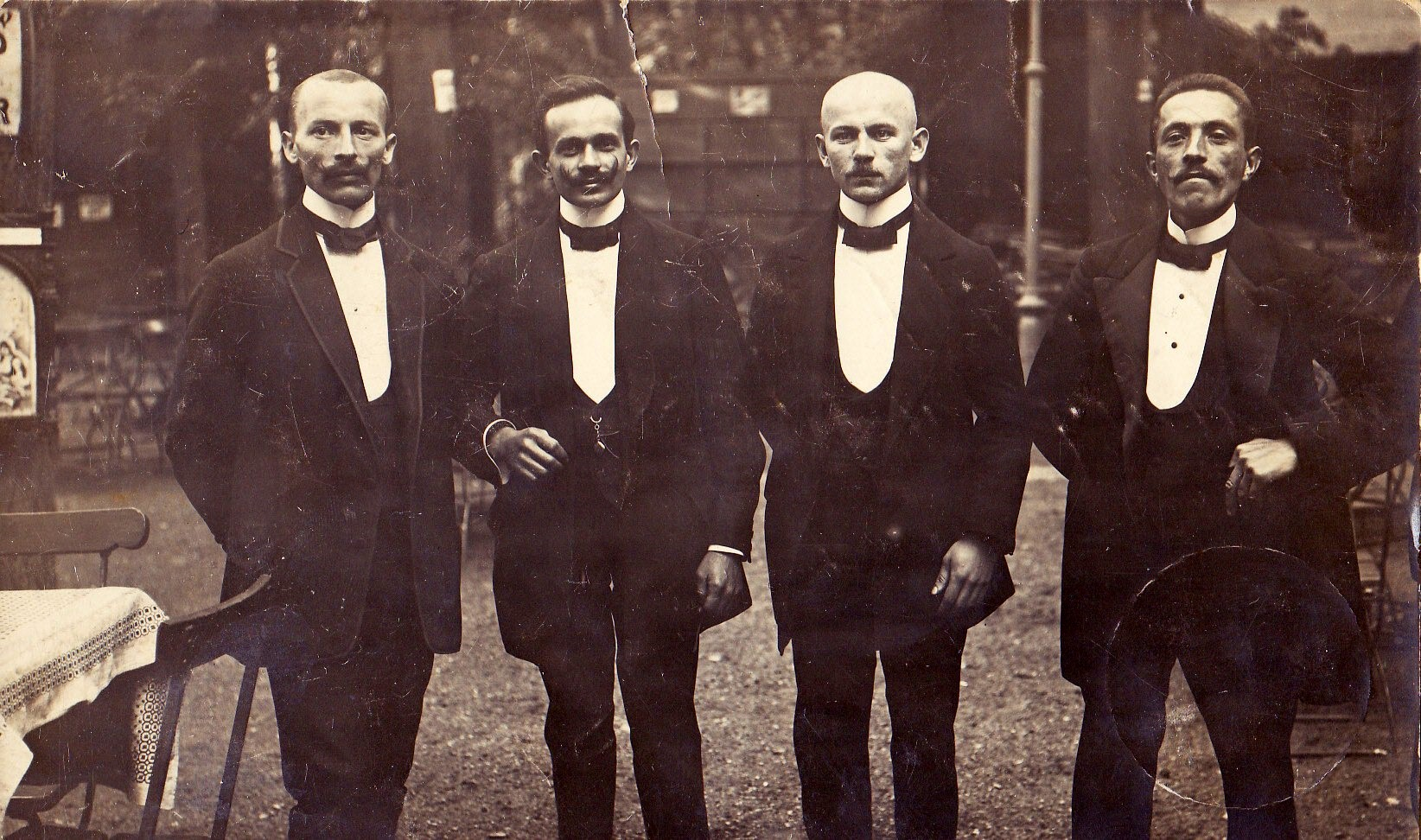 Pepe comes from a long line of waiters. Seen here from left to right - father Javier, Uncle Miguel, Uncle Victor and Grandfather Jose. Javier settled in Arkansas, under the false illusion that it was advantageous to live halfway between the Pacific and Atlantic oceans.