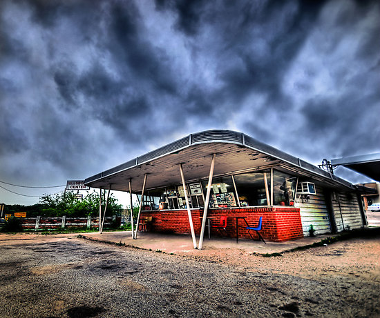 William's Drive In, Hillsboro, Texas.  I was told this photo was taken just before the death-eaters came to town looking for Harry Potter.  Not finding Harry, they decided to stay and have a burger before flying off to Dallas.