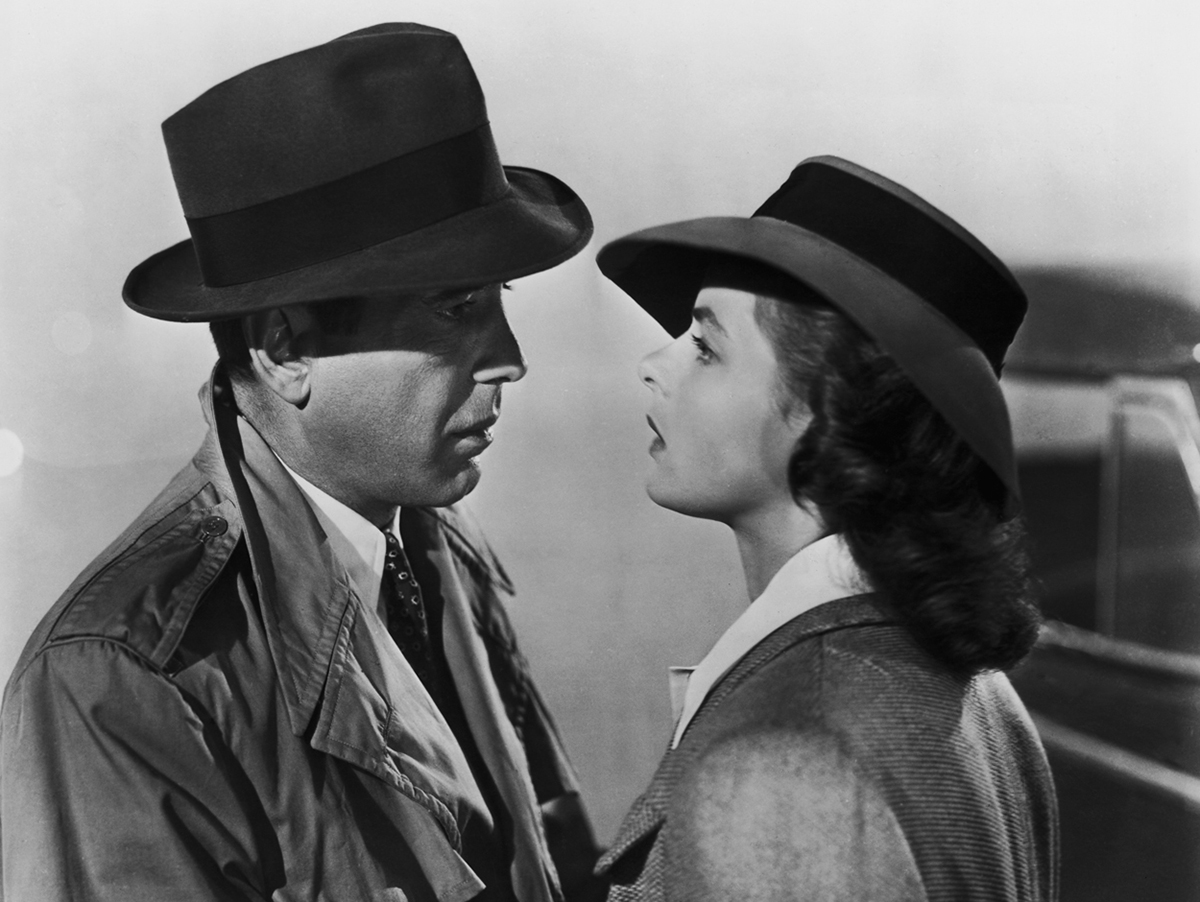 Humphrey Bogart and Ingrid Bergman in a scene from 'Casablanca. Slim behind the front desk told me that a few scenes from the movie were actually filmed at the hotel. Maybe that was Bogart standing in the corner of my room all night. When I woke up there were cigarette butts all over the floor.