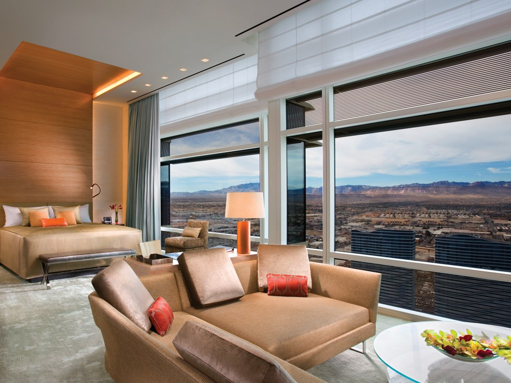 My room at Aria in Vegas. Not an understatement to say I splurged a bit. But it's okay. The bottle of water in the fridge is only $27. Thanks again MountCo.